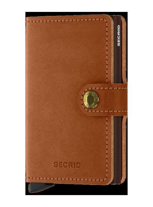 SECRID Miniwallet Orginal Cognac - Brown RFID portfel