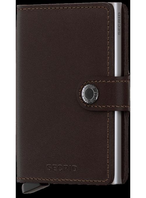 SECRID Miniwallet Orginal Dark Brown RFID portfel
