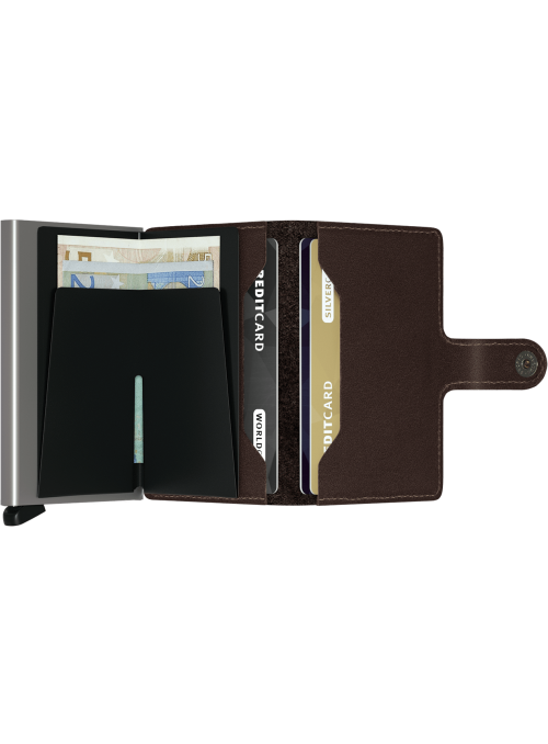 SECRID Miniwallet Orginal Dark Brown RFID portfel