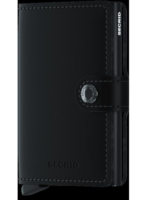 SECRID Miniwallet Matte Black RFID portfel