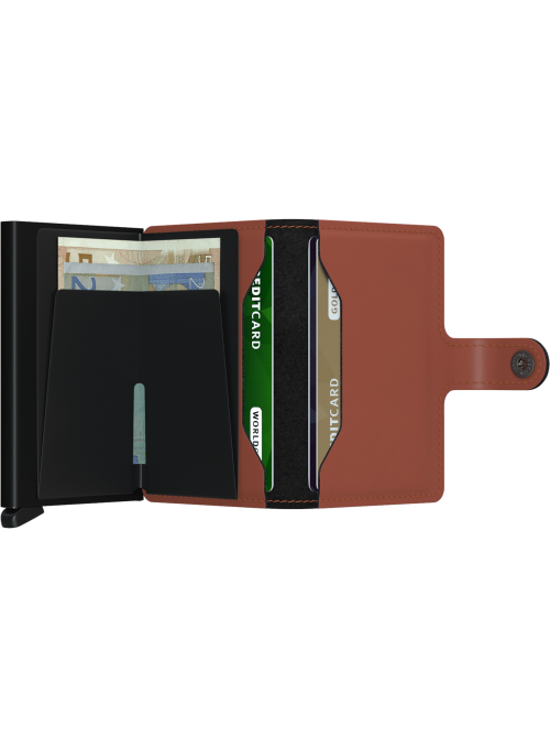 SECRID Miniwallet Matte Brick - Black RFID portfel