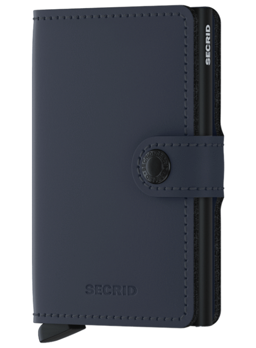 SECRID Miniwallet Matte Night Blue RFID portfel