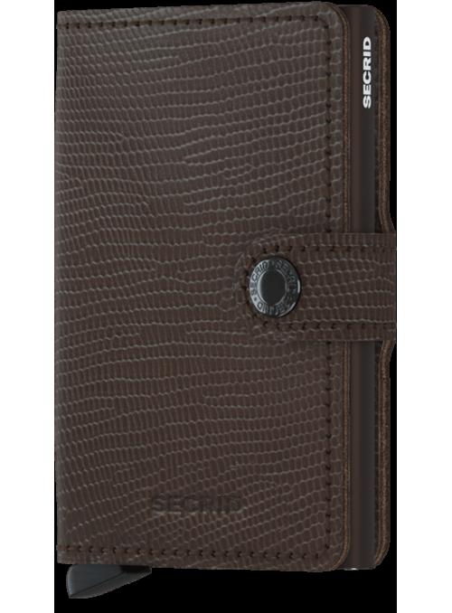 SECRID Miniwallet Rango Brown - Brown RFID portfel