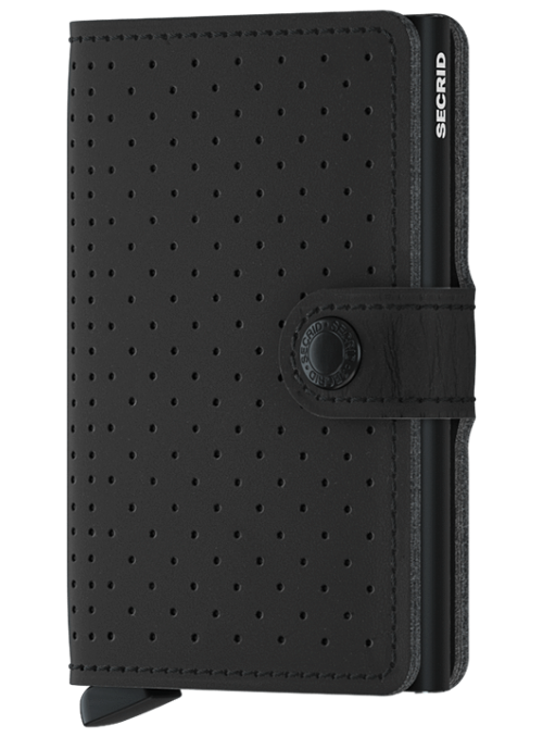 SECRID Miniwallet Perforated Black RFID portfel