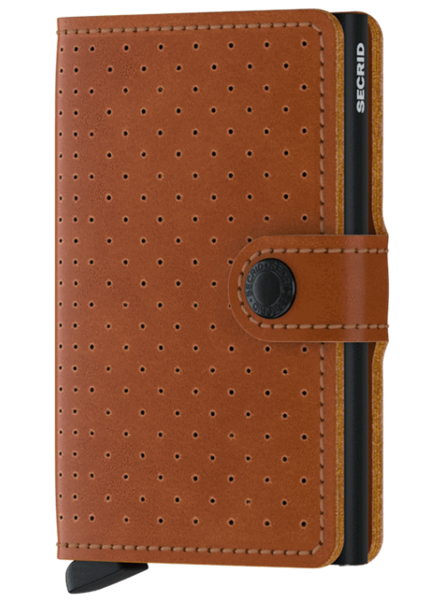 SECRID Miniwallet Perforated Cognac RFID portfel