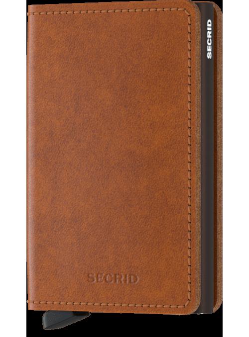SECRID Slimwallet Orginal Cognac - Brown RFID portfel