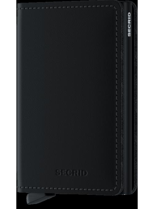 SECRID Slimwallet Matte Black RFID portfel