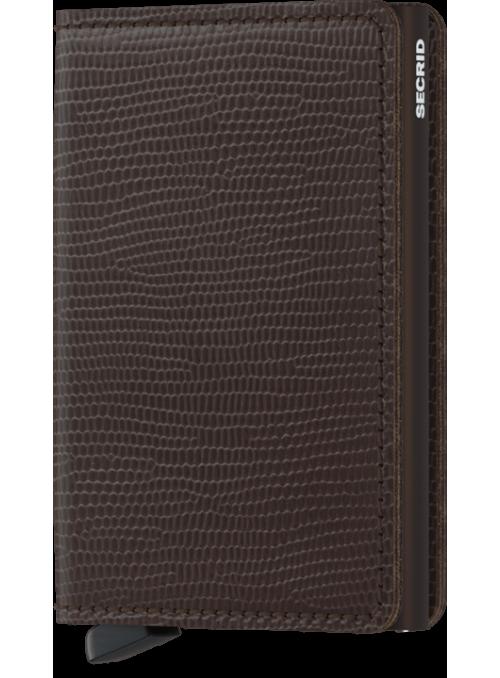 SECRID Slimwallet Rango Brown - Brown RFID portfel