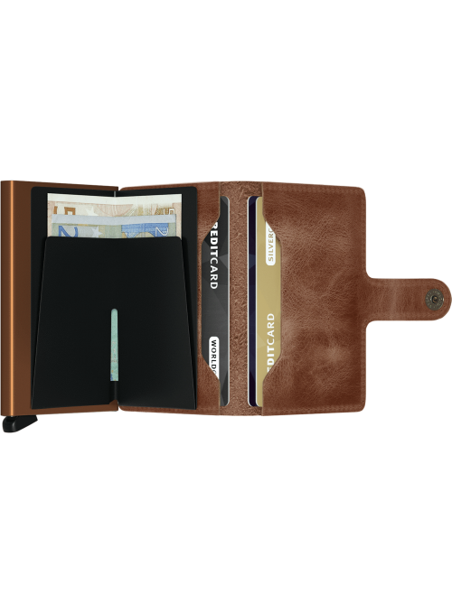 SECRID Miniwallet Vintage Cognac - Rust RFID portfel