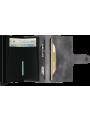 SECRID Miniwallet Vintage Grey - Black RFID portfel