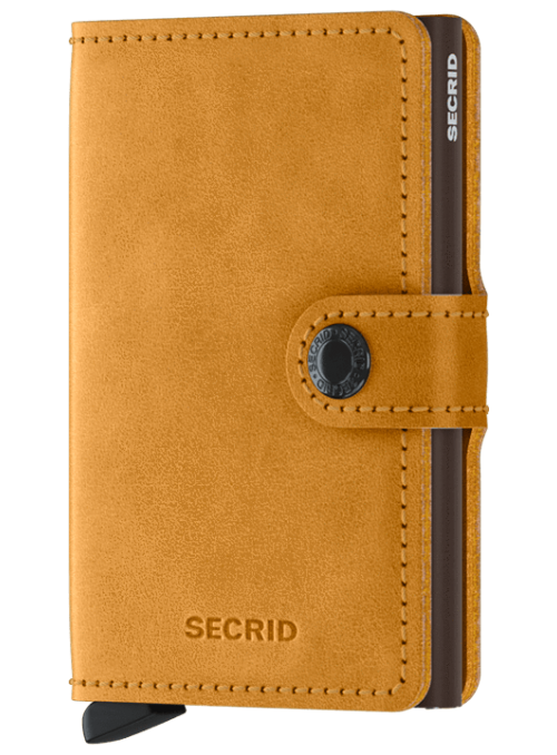 SECRID Miniwallet Vintage Ochre RFID portfel