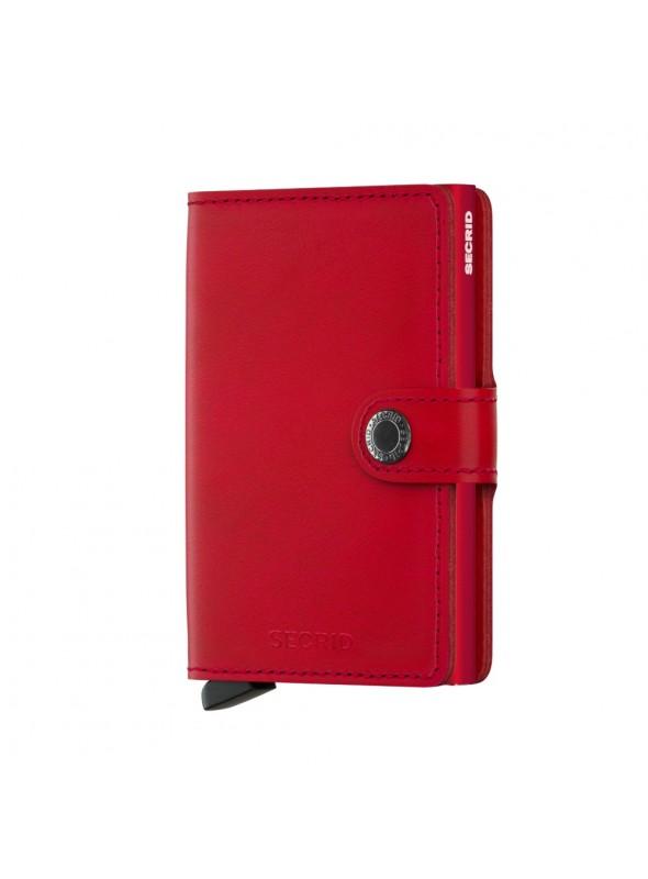 SECRID Miniwallet Orginal Red - Red RFID portfel