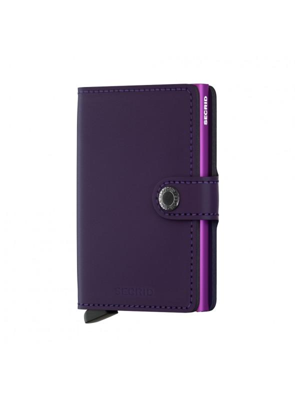 SECRID Miniwallet Matte Purple RFID portfel