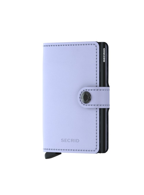 SECRID Miniwallet Matte Lilac - Black RFID portfel