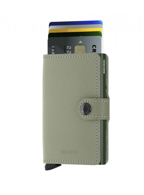 SECRID Miniwallet Crisple Pistachio Floral RFID portfel Damski