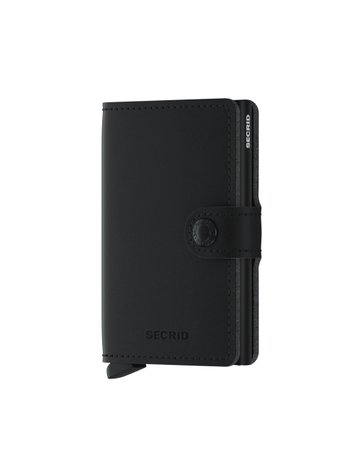 SECRID Miniwallet Soft Touch Black VEGAN RFID portfel