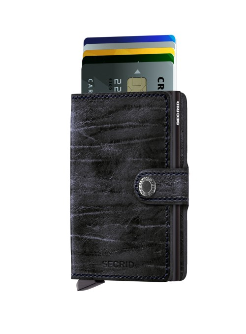 SECRID Miniwallet MDM Night Blue collection RFID portfel