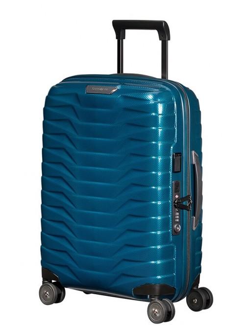 Samsonite Proxis Petrol Blue walizka kabinowa z poszerzeniem i portem USB