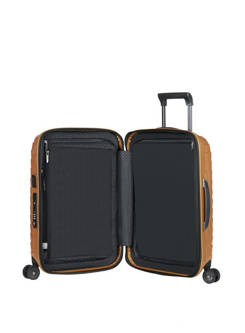Samsonite Proxis Honey Gold walizka kabinowa z poszerzeniem i portem USB