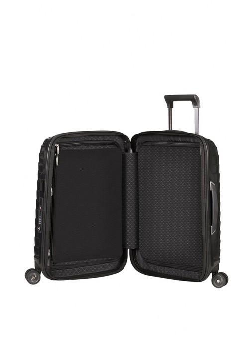 Samsonite Proxis Black walizka kabinowa z poszerzeniem i portem USB