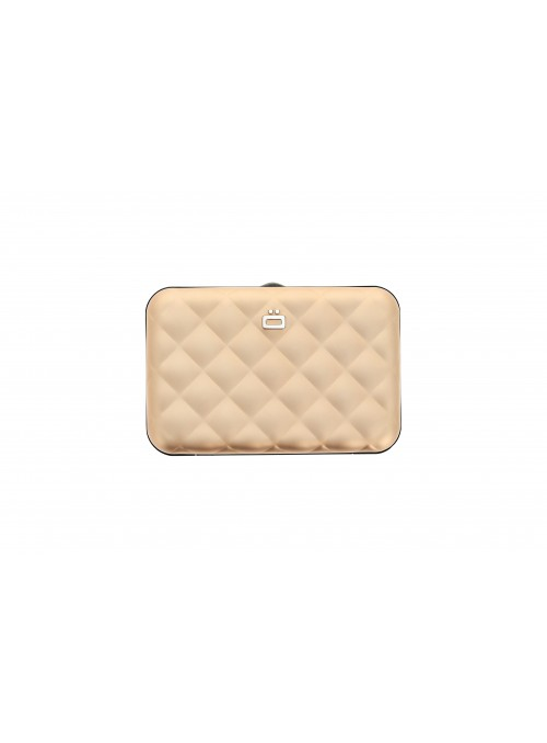 Portfel Aluminiowy ÖGON Design Rose Gold Quilted Button