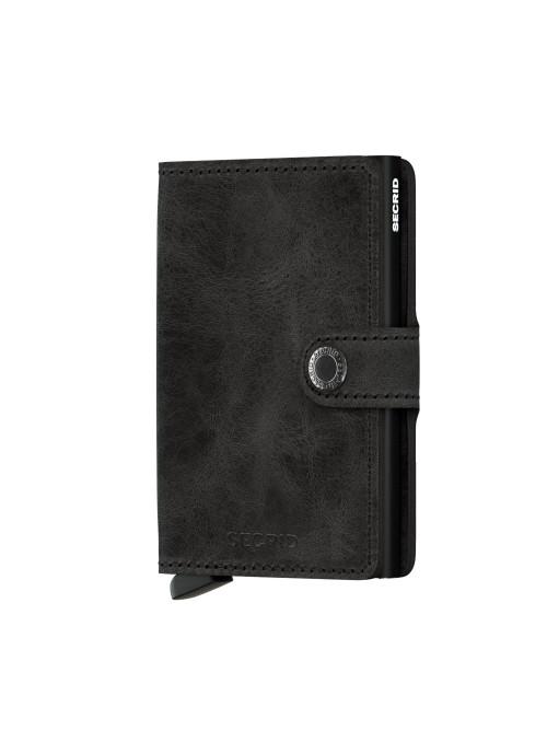 SECRID Miniwallet Vintage Black RFID portfel