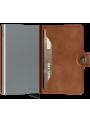 SECRID Miniwallet Vintage Cognac - Silver RFID portfel