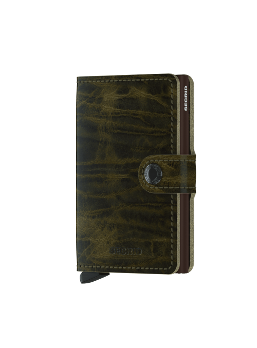 SECRID Miniwallet Olive MDM collection RFID portfel