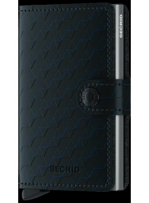 SECRID Miniwallet Optical Black - Titanium RFID portfel