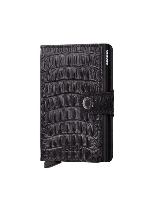 SECRID Miniwallet Nile Black RFID portfel