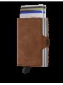 SECRID Twinwallet Vintage Cognac Silver RFID portfel