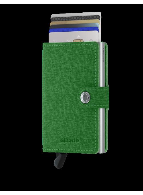 SECRID Miniwallet Crisple Light Green RFID portfel