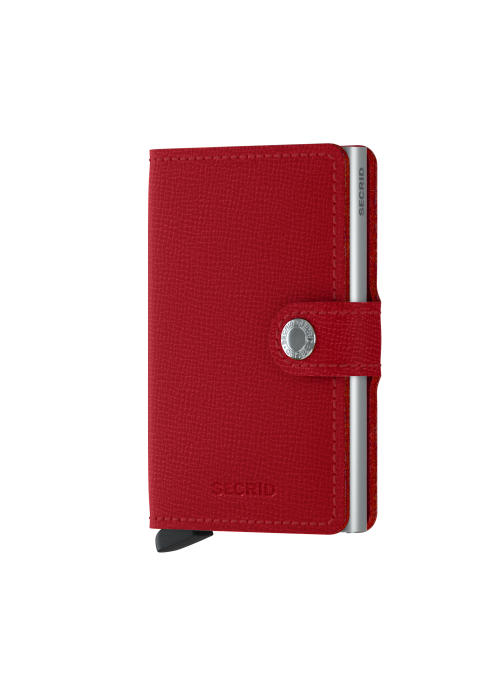 SECRID Miniwallet Crisple Red RFID portfel