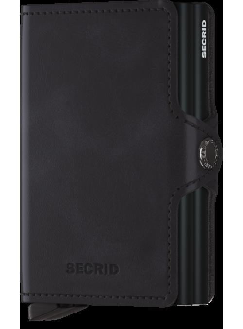 SECRID Twinwallet Vintage Black RFID portfel