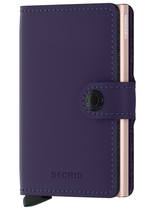 SECRID Miniwallet Matte Purple Rose RFID portfel