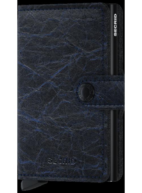 SECRID Miniwallet Crunch Blue RFID portfel
